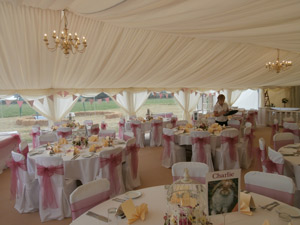 """We loved the marquee it was perfect.""Jenny Johnson, Gilmorton, Leicestershire"