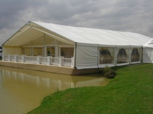 We've erected marquees in some amazing and very challenging places