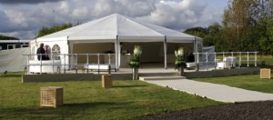 How far in advance should I book a marquee?