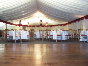 Barn linings are a great way to transform a space ready for a party