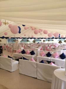 We'll erect the marquee in the week before your big event, always finishing with at least one clear day before the great occasion for the caterers to come in and for you to set up your personal touches