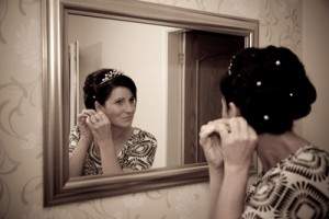 wedding makeup and wedding hair styling